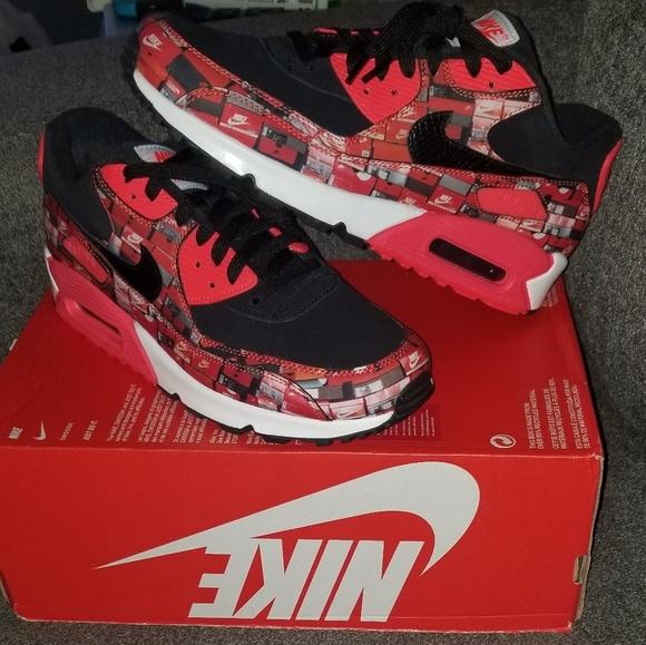 919540f339 Nike Shoes | Air Max 90 Atmos We Love Bright Crimson | Poshmark